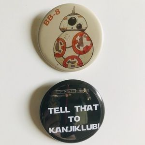 Accessories - Star Wars The Force Awakens Pin Back Badge Buttons